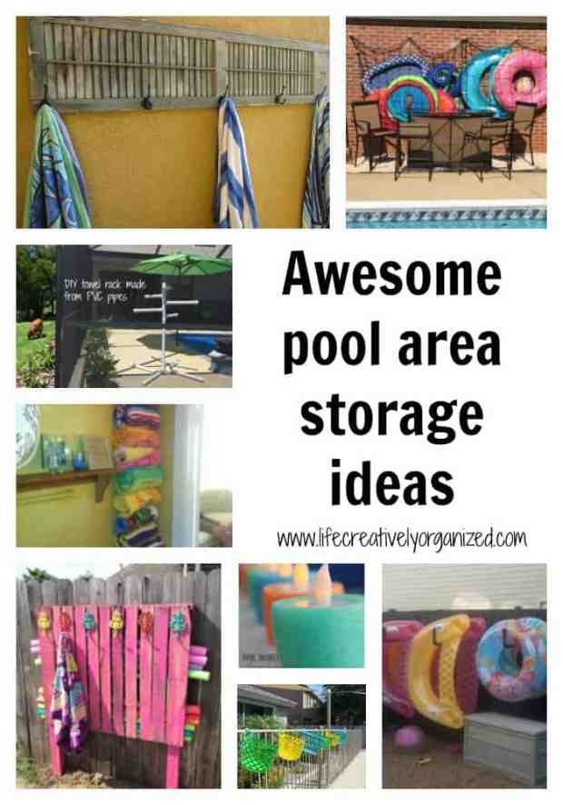 Awesome pool storage ideas life creatively organized for Swimming pool storage ideas