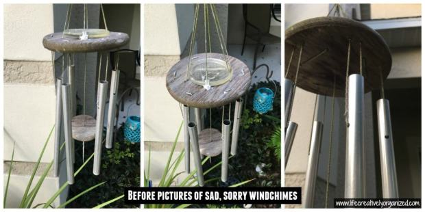 How to refurbish wind chimes. My wind chimes have endured 10 years of Michigan winters & Florida summers. Here is how I refurbished them to look as good as new.