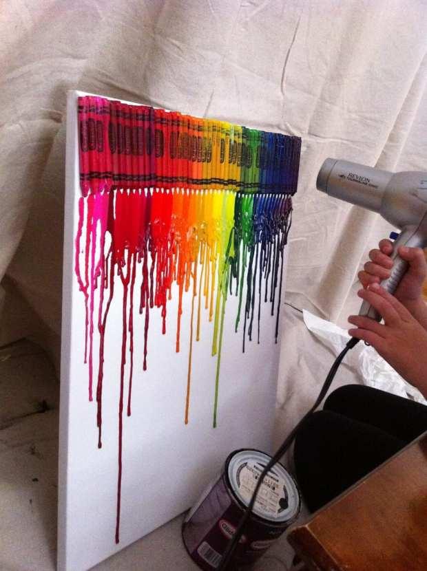 Simple Rainbow Girls Room