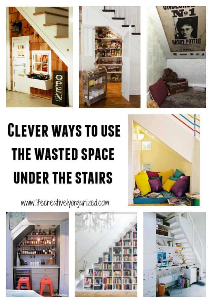 Clever ways to use that wasted space under the stairs for How to use the space under staircase