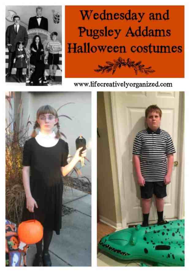 awesome wednesday and pugsley addams halloween costumes instantly recognizable yet very easy to make