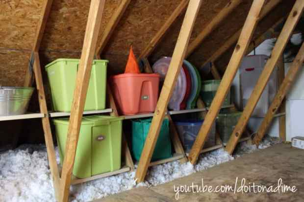 16 genius ways to organize christmas decorations and for Attic storage bow