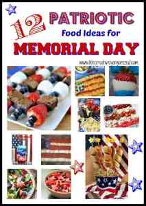 Here are 12 patriotic Memorial Day food ideas for your picnic and long weekend. Serving foods in red, white, and blue are one way to honor those who served.