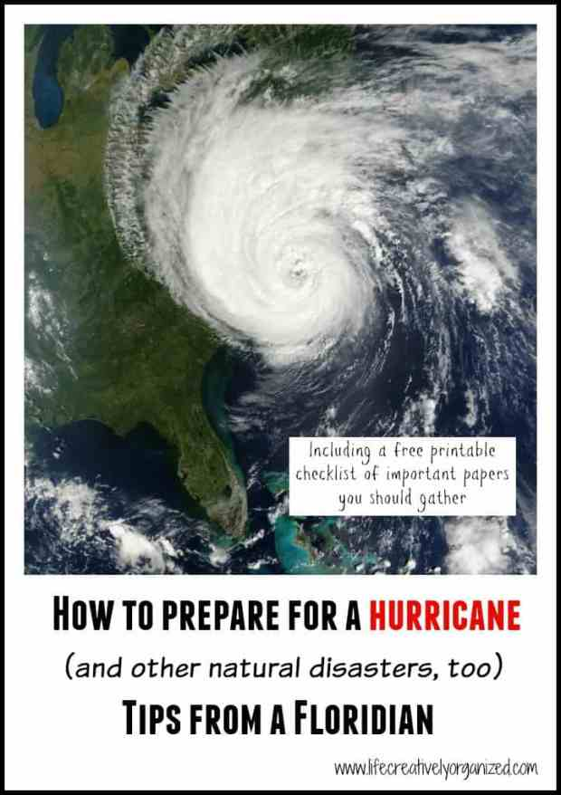 You've watched the news & seen the devastation hurricanes can inflict. Here are natural disaster preparation tips to get ready for anything! (updated 2017)