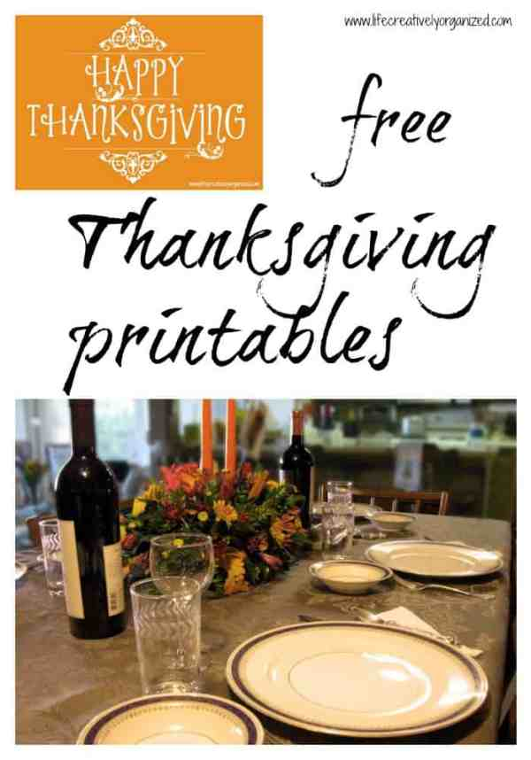 Download your free Thanksgiving printables, to make your Turkey Day preparations easy! Includes a checklist, place setting cards, and thankful cards.