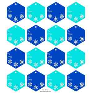 blue holiday gift tags