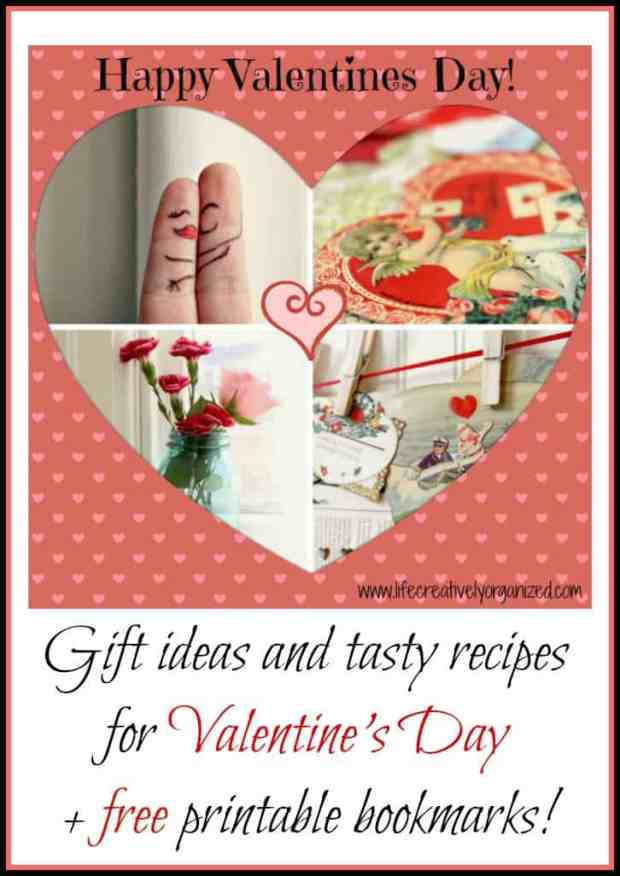 Valentine's Day is coming soon! So, to make it easy for you, here are some gift ideas, tasty recipes for Valentine's Day treats + free printable bookmarks!