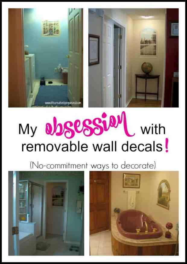 Decorate your home with removable wall decals! They stick on and peel off easily, perfect for rentals or to just change up decor quickly with little fuss.