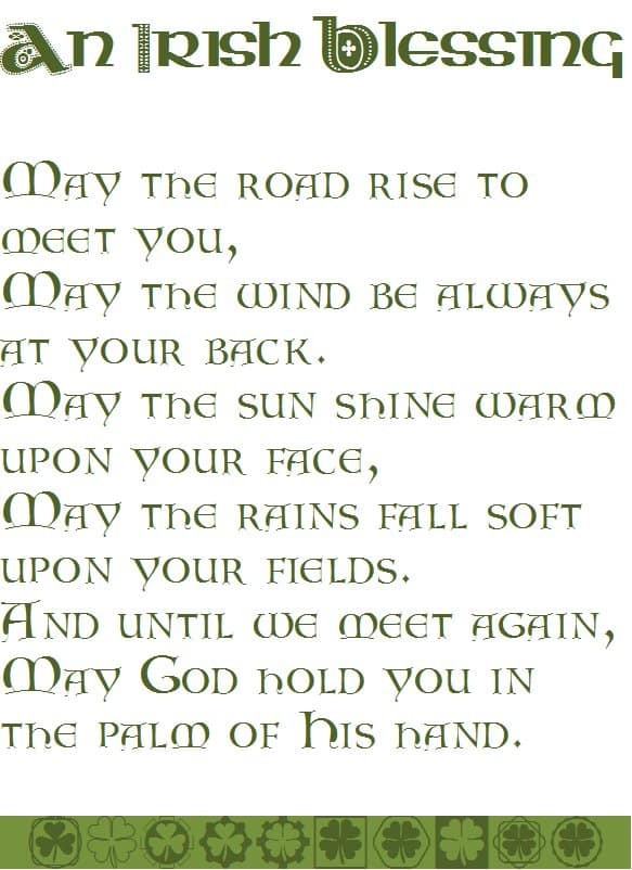 picture about Printable Irish Blessing identify irish blessing printable - Lifestyle, CREATIVELY Well prepared