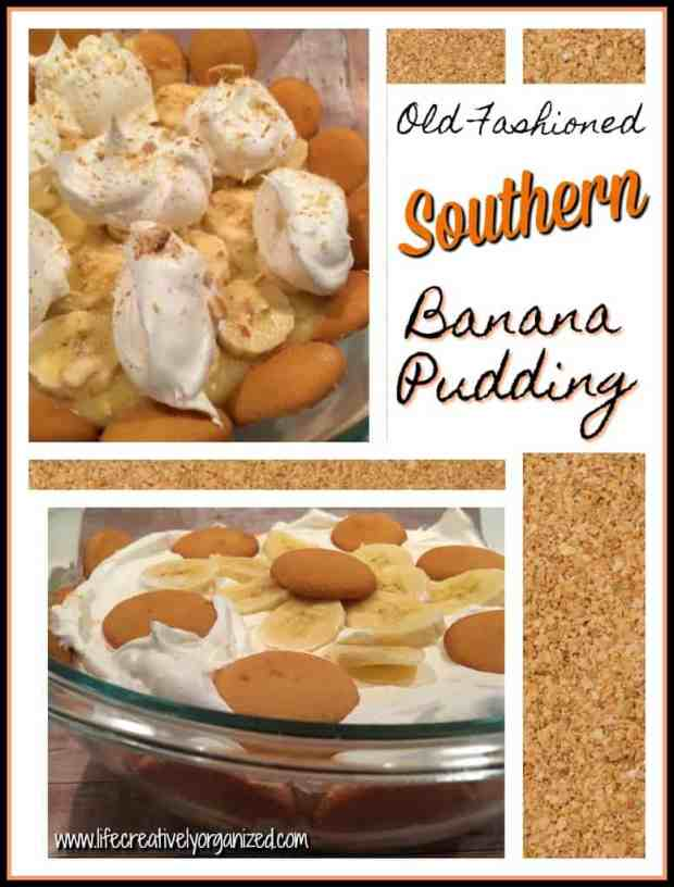 Old fashioned Southern banana pudding is an iconic taste of the South, made with fresh bananas, whipped cream, & of course, vanilla wafers. Easy & delicious