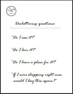 Decluttering questions printable