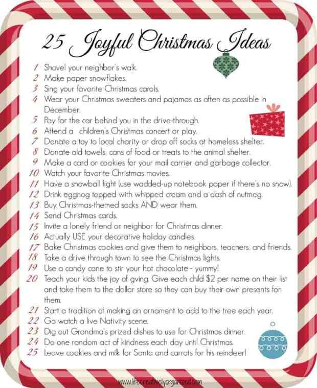 25 joyful Christmas ideas PDF