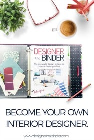 Become your own interior designer with Designer in a Binder