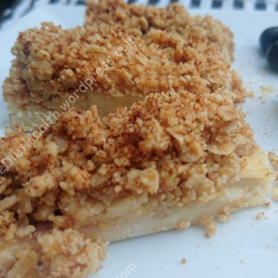Apple Crumble Slice (vegan & free-from)