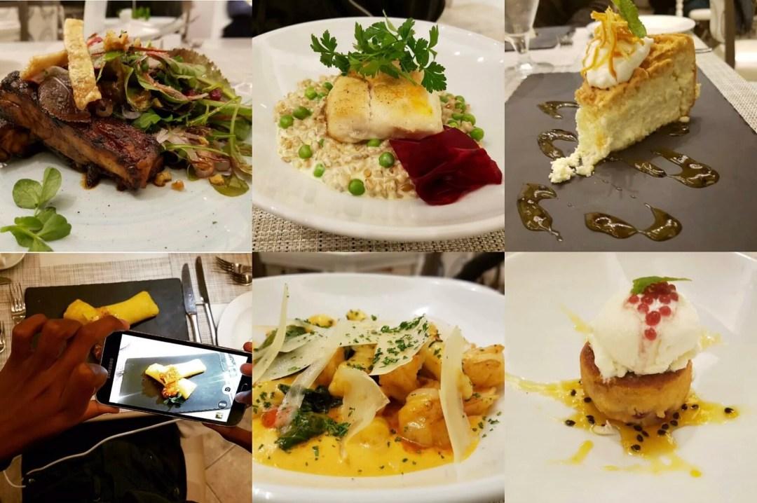 Dining at Oude Werf Hotel in Stellenbosch