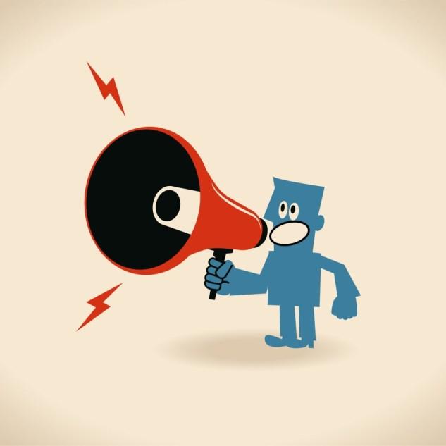 Shout-out megaphone