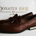 DONATUS_EHIS Patent Brown Loafers. #Before&After, #Handmade #ProudlyDonatusEhis, #ProudlyNigeria. Avaliable In Size 42-47. call 08183619121 or Ping 593CC9D4 To Order..... We Don't Just Make Shoes, We Make An Experience Of Quality.