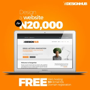 CLICK!!!  Design a website for just 20,000 Naira with FREE Web hosting, Domain registration and 50+ email IDs