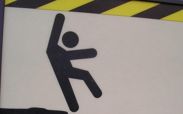 backslide falling