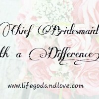 Chief Bridesmaid with a Difference!