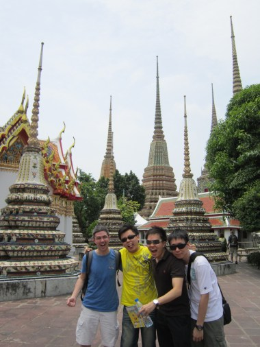 Guys at Wat Pho