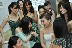Girls and Bride