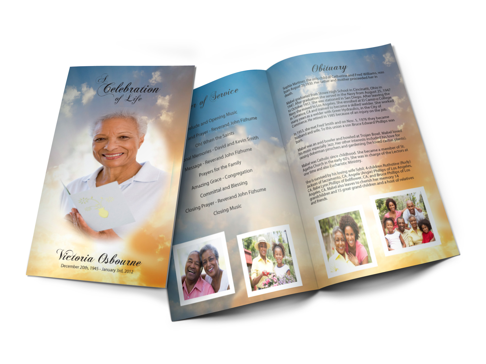 Custom Design Your Funeral Programs Or Your Memorial