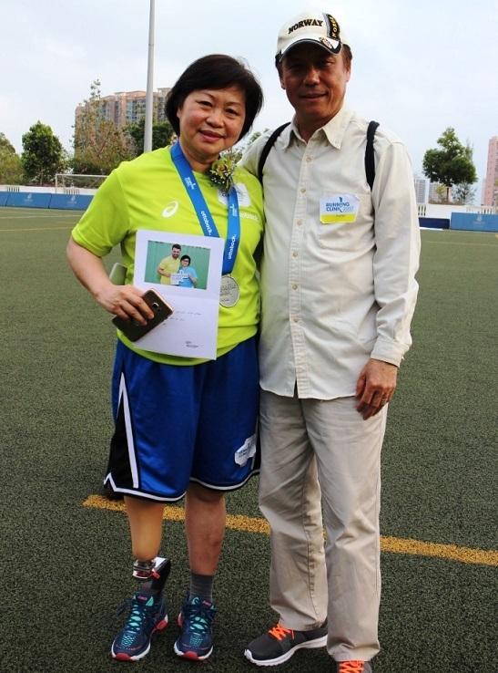 余菊英和丈夫均表示刀片義肢工作坊令他們眼界大開,明白不要局限自己。