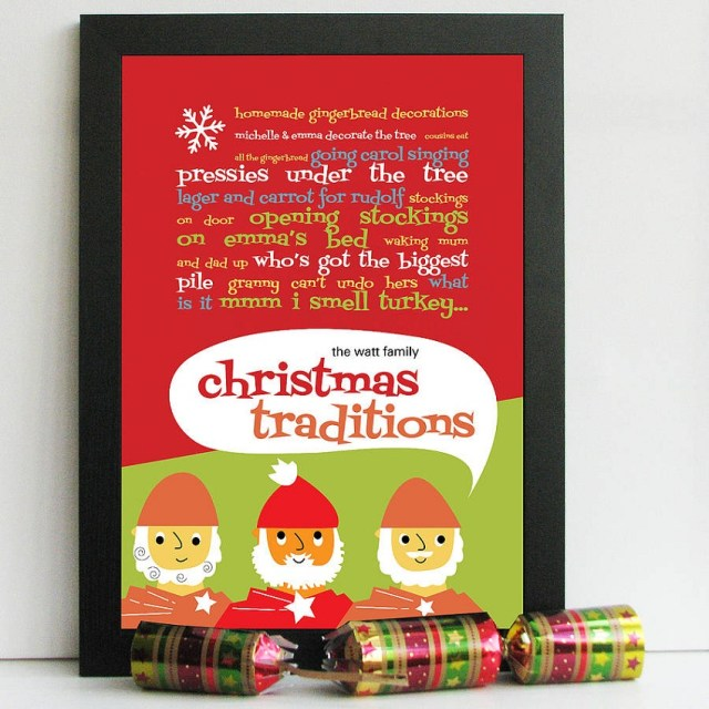 A Few Home Truths Personalised Christmas Traditions Print