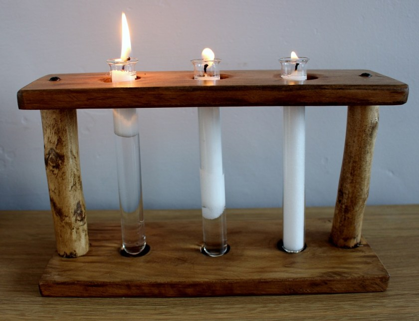 Beyond Candle Wax Sand, used with a test tube holder made by Buzzybee's Bespoke Woodwork