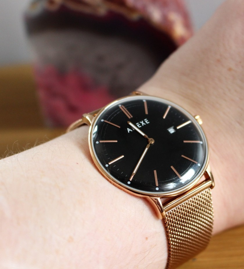 Meek Petite Rosegold by Adexe London Watch Image of it on my wrist