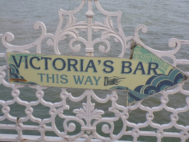 Visit Brighton Pier with Tilly and Vicky = Victoria's Bar This Way!