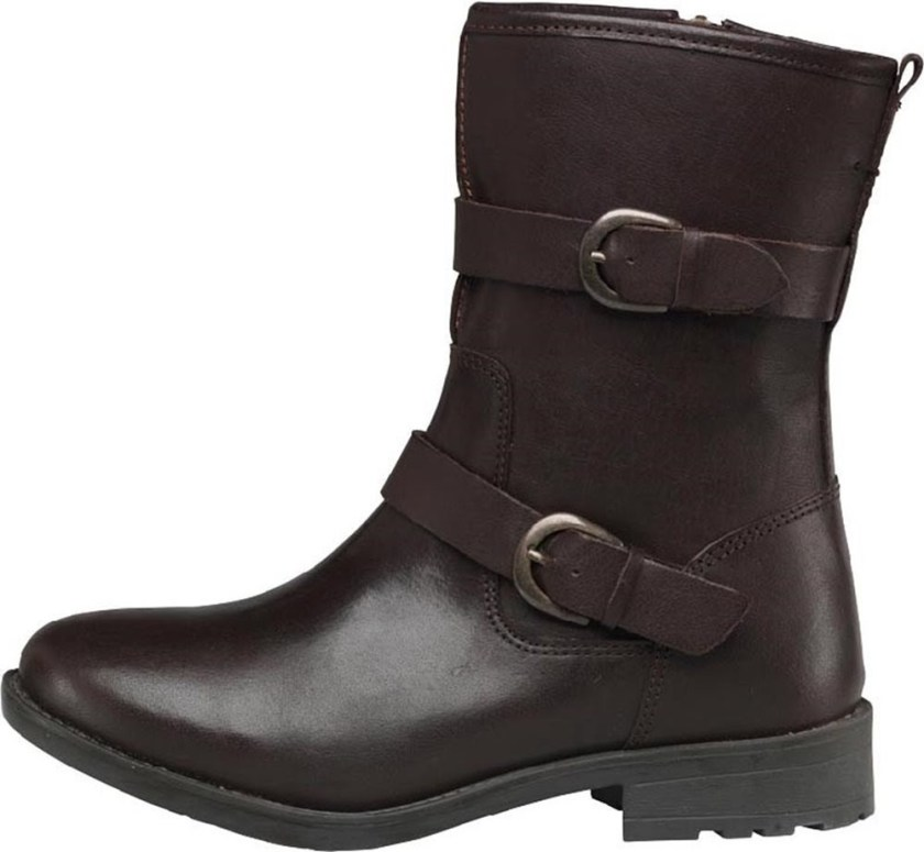 Women's Leather Buckle Boots
