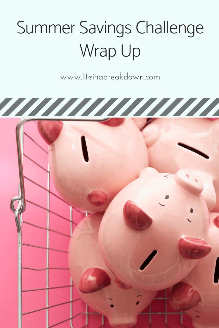 Summer Savings Challenge Wrap Up Pin Image