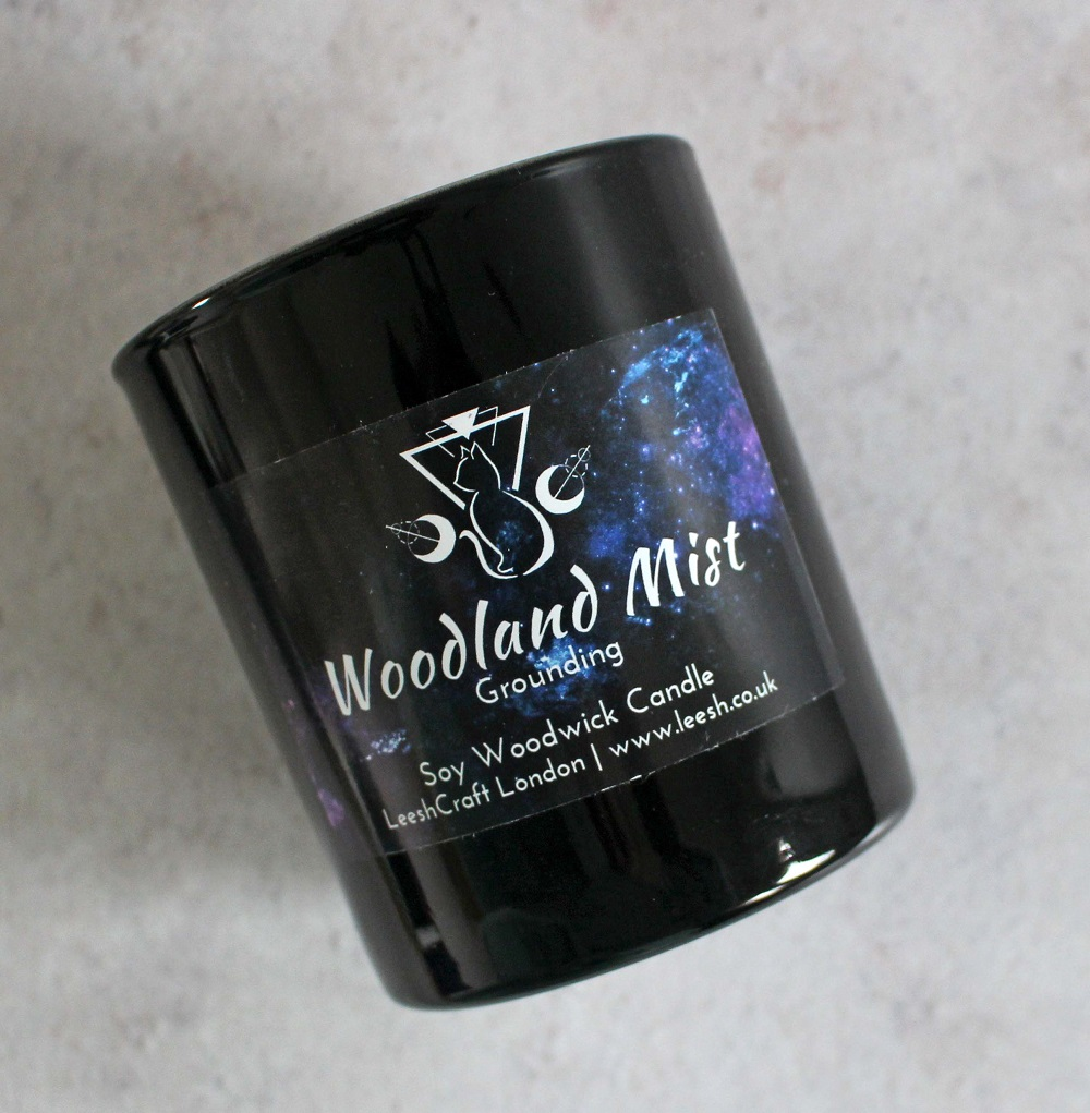LeeshCraft London Candles Woodland Mist Rituals Collection Picture of the candle.