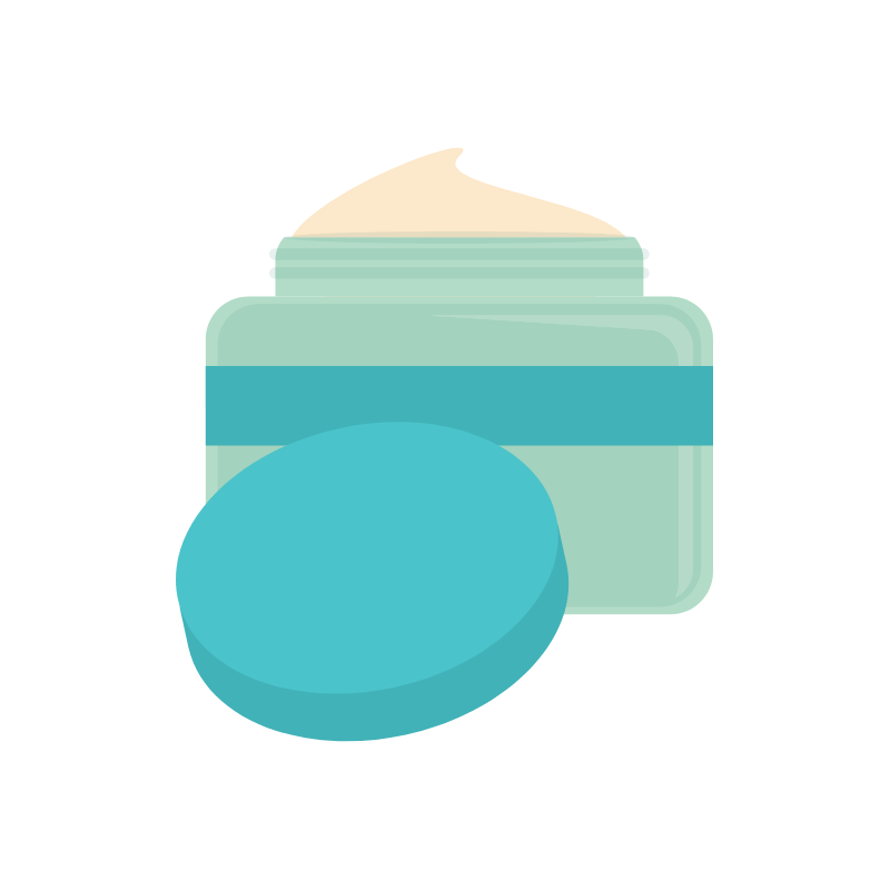 Vector of a tub of moisturizer