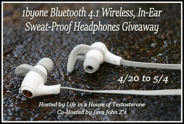 1byone Bluetooth 4.1 Wireless In-Ear Sweat-Proof Headphones Giveaway