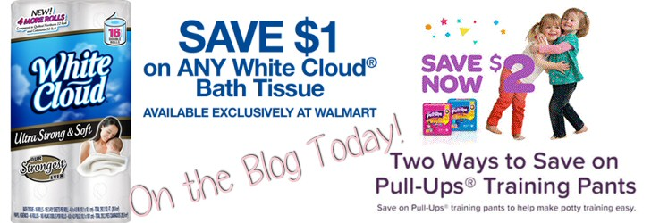 picture relating to Pull Ups Printable Coupons named White Cloud and Pull Up Printable Discount coupons