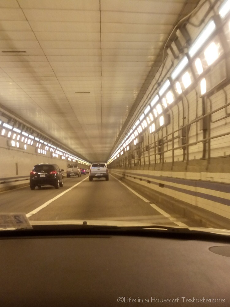 Entering the Hampton Roads Bridge Tunnel