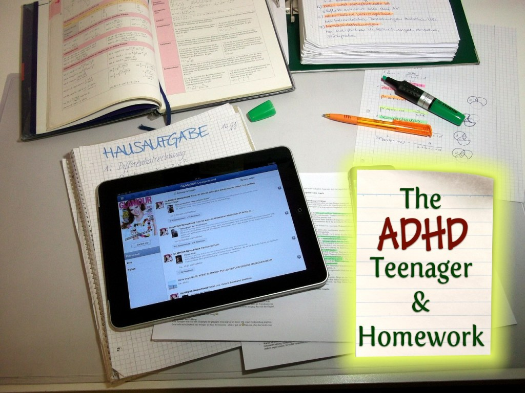 adhd teenager and homework