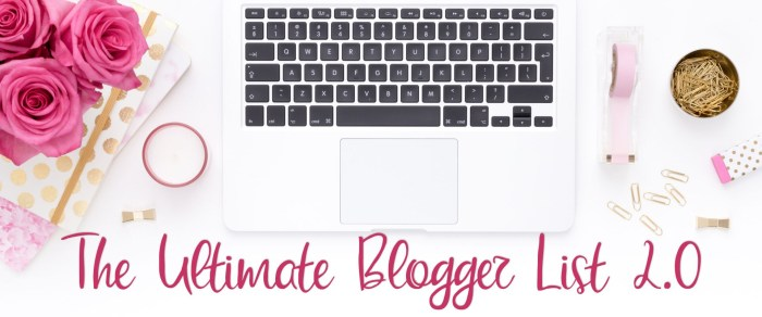 The Ultimate Blogger List 2.0