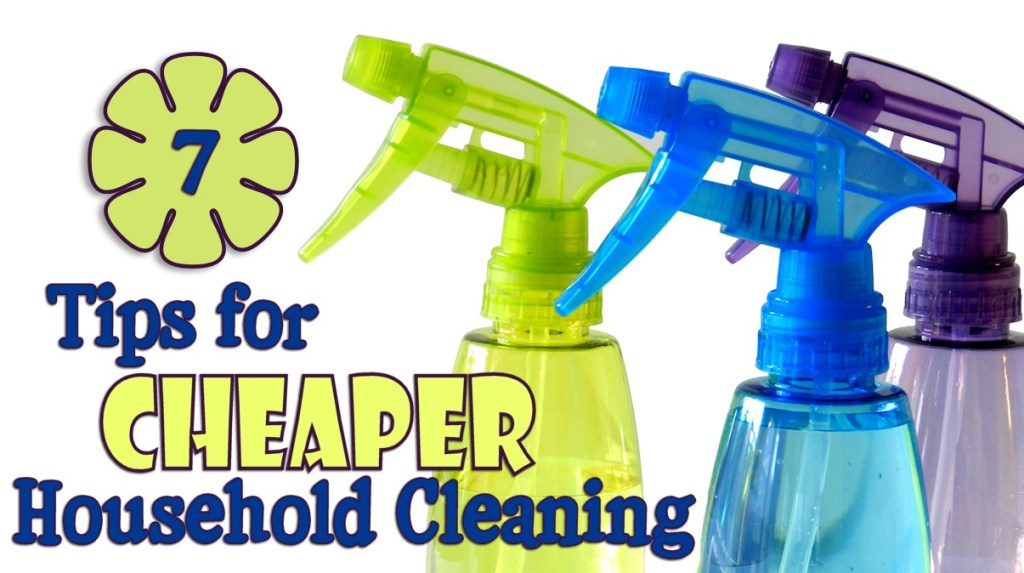 When you have a mess to tackle in your home, these 7 Tips for Cheaper Household Cleaning will help you get the job done economically!