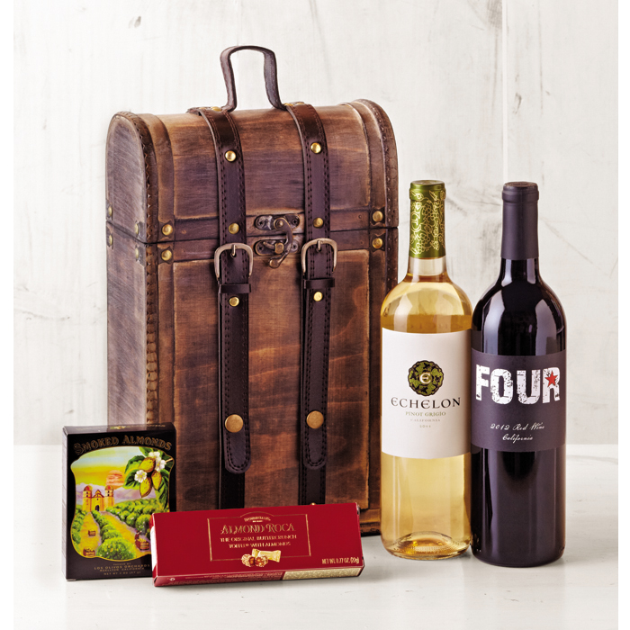 Vintage Travels Gift Basket - Wine of the Month Club - $62.00