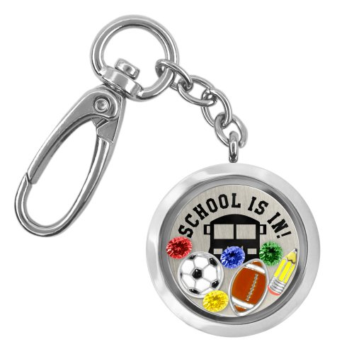 A Touch of Dazzle - School is In Locket Keychain