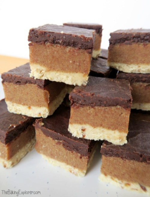 Week 139 Sunday's Best Post with the Most Clicks - Vegan Millionaire's Shortbread from The Baking Explorer