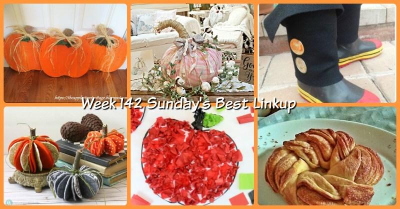 Week 142 Sunday's Best Linkup