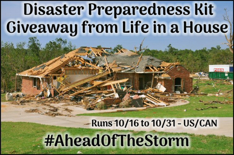 Disaster Preparedness Giveaway 10/31 @CPG_Residential