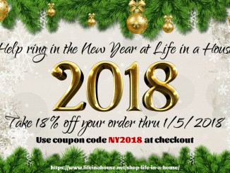 Life in a House 2018 New Year's Sale