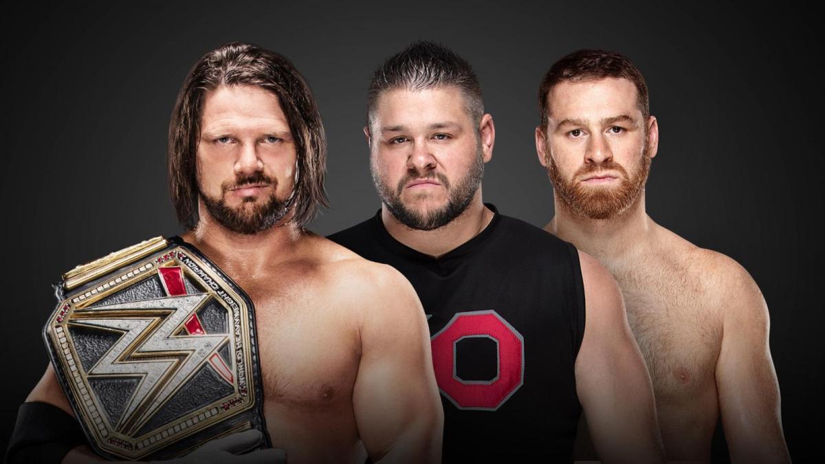 AJ Styles v. Kevin Owens w/Sami Zayn