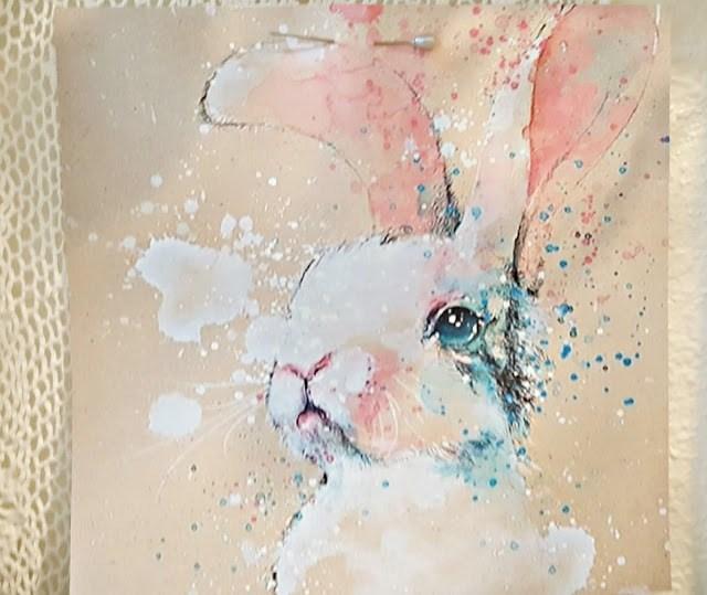 Week 166 Water Color Bunnies from Penny's Treasures